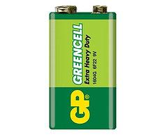 Батарейка крона 9v  GP Greencell 1604G/6F22