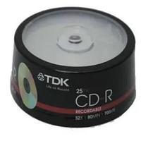 Диски TDK CD-R 25 шт. шпиндель.