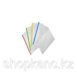 Папка-конверт на молнии А4, 0,15 мм, карман для визитки, молния ассорти