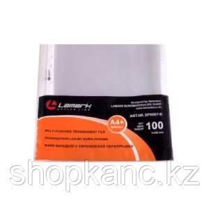 """Файл-вкладыш Lamark с перфорацией А4+, 0,030 мм, повышенной вместимости, """"яичная скорлупа"""", 100 шт"""