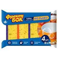 Губка кухонная Фрекен Бок, BIG Bubble крупнопористая 4 шт