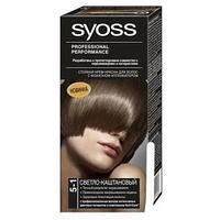 """Стойкая крем-краска для волос """"SYOSS"""", оттенок 5-1 Светло-каштановый"""
