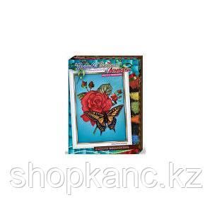 """Набор для творчества """"Вышивка бисером и лентами Бабочка с розой/ Маки и ромашки""""(10)"""