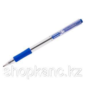Ручка шариковая автоматическая OfficeSpace синяя, 1,0мм, грип, прозрачный корпус