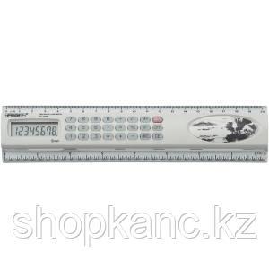 """Линейка 20 см с калькулятором 08 разрядным """"Proff""""(PC-2508)"""