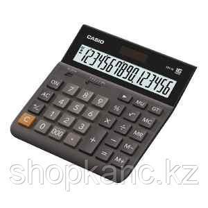 Калькулятор настольный, 16 разрядный CASIO  DH-16-BK-S-EH
