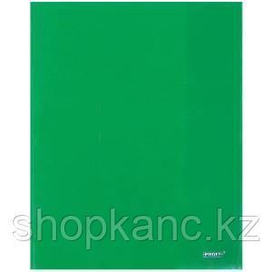 Папка-уголок A4 с 2-мя внутренними клапанами прозрачная зеленая 0.30 мм.