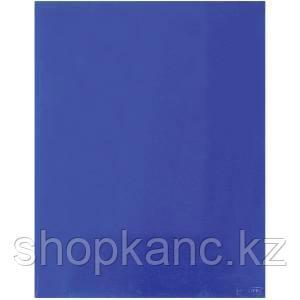 Папка-уголок A4 с 2-мя внутренними клапанами прозрачная синяя 0.30 мм.