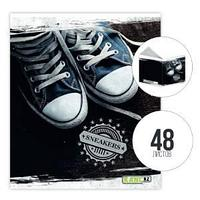 Тетрадь А5, 48 л., клетка, Sneakers, KANC.KZ