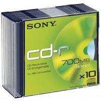 Диски Sony СD-R, Slim.