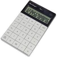 Калькулятор настольный 12 разрядов, двойное питание, 165*105*13 мм, белый.