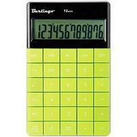 Калькулятор настольный 12 разрядов, двойное питание, 165*105*13 мм, зелёный.