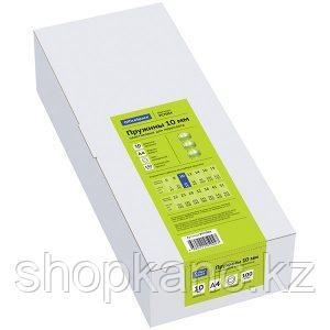 Пружина для переплета пластиковая 10 мм. OfficeSpace, бесцветные, 100 штук/в упаковке.