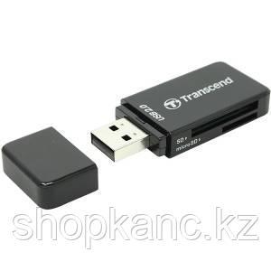 Картридер Transcend 5-in-1 USB 2.0 список поддерживаемых карт SD, SDHC, MMC, MMCplus, MMCmobile,