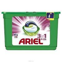 Гель капсулы для стирки ARIEL 3 в 1 15шт