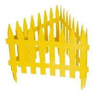 "Забор декоративный ""Рейка"", 28 х 300 см, желтый"