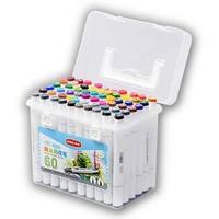 Набор маркеров для скетчинга 2-сторонние, спиртовые, 60 цветов
