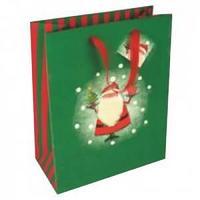 Пакет подарочный 33 х 45 х 10 см. ламинированный новогодний MIX 2