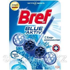 """Подвесной блок для унитаза Bref """"Blue Activ, с хлор-компонентом, 50г, блистер"""