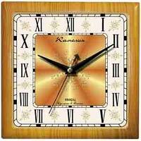 """Часы настенные ход плавный, Камелия """"Римские новые 2"""", квадрат, 29*29*3,5, св-кор. рамка"""