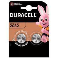 Батарейка Duracell CR2032 3V литиевая, 2BL