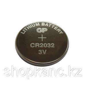 Батарейка Lithium, CR2032, 3 V, 220 mAh, 1 штука в блистере.