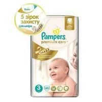 Детские подгузники Pampers premium care Sleep & Play Размер 3   5-9 кг 60шт