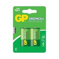 Батарейка Greencell, R14, C, 1,5 V, 2 штуки в блистере.