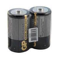 Батарейка Supercell, R20, D, 1,5 V, 2 штуки в плёнке.
