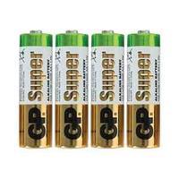Батарейка Super Alkaline, LR06, AA, 1.5 V, 4 штуки в плёнке.