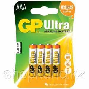 Батарейка Ultra Alkaline, LR03, AAA, 1,5 V, 4 штуки в блистере.