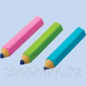 Ластик из синтет.каучука Мини Карандаш, цвета ассорти, размер 5.3x1.1cм