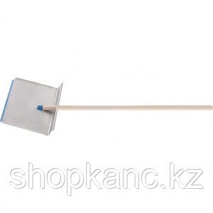Лопата тротуарная 400 х 400х 1,5 мм, алюминиевый черенок. Россия