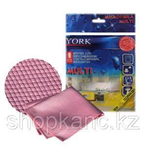 Салфетка из микрофибры универсальная, Multi, 1 шт., цвет: розовый.