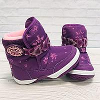 Зимние укороченные детские сапоги UOVO фиолетовые