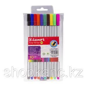 Набор капиллярных ручек, 0,8 мм, Fine Writer 045, 10 цветов.