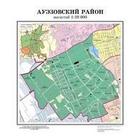 План-схема Ауэзовского района  1:25000 (лам)