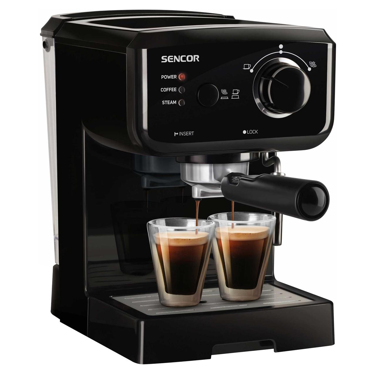 Кофеварка рожковая Sencor SES 1710BK