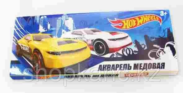 """Акварель """"Hot Wheels"""" медовая 12 цв. б/к"""