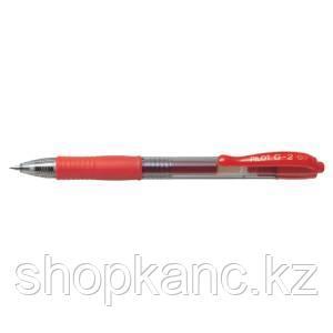 Ручка шариковая PILOT G-2, GEL RETRACT, красная 0.7мм