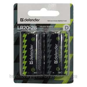 Батарейка Alkaline, LR20, D, 1,5 V, 2 штуки в блистере.