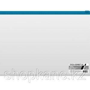 """Папка-конверт пластиковая """"Hatber"""", А5, 110мкм, на молнии, прозрачная"""