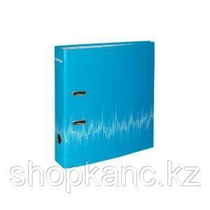 """Папка-регистратор  """"Neon"""", 70мм, ламинированная, неоновая голубая"""