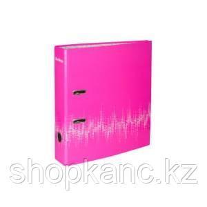 """Папка-регистратор  """"Neon"""", 70мм, ламинированная, неоновая розовая"""