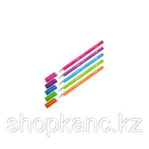"""Ручка шариковая """"Starlight"""", синяя, 0,7мм, игольчатый стержень,прорезиненный корпус ассорти"""