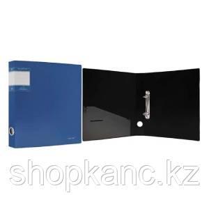 "Папка на кольцах, 2К, А4, р=1.1мм, S=40мм,  ""PERLEN"" , карман, Metallic, голубая арт.271952-74"