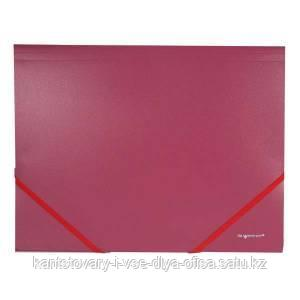 Папка-конверт, на резинке, А4, 0.6мм, AGATIS, красный арт.322731-04