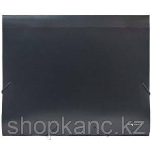 Папка-конверт, на резинке, А4, 0.6мм, AGATIS, серый арт.322731-06
