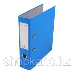 Папка-регистратор, А4, 80 мм, бумвинил/бумага, голубой.