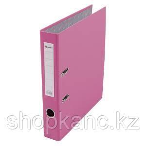 Папка-регистратор, А4, 50 мм, бумвинил/бумага, розовый.